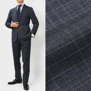 デ ペトリロ / De Petrillo / LINEA NAPOLI / NAPOLI / ウール チェック柄 ワンプリーツ スーツ|luccicare