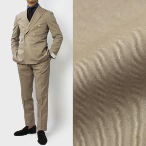デ ペトリロ / De Petrillo / LINEA NAPOLI / VESUVIO / ウールコットン ダブルブレスト スーツ / セール / 返品・交換不可|luccicare