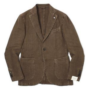 エルビーエム1911 / L.B.M.1911 / JACK SLIM / リネン100% 製品洗い 2B 2パッチ ジャケット / セール / 返品・交換不可|luccicare