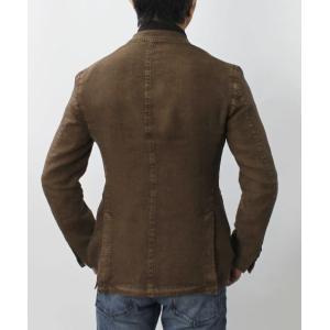エルビーエム1911 / L.B.M.1911 / JACK SLIM / リネン100% 製品洗い 2B 2パッチ ジャケット / セール / 返品・交換不可|luccicare|04