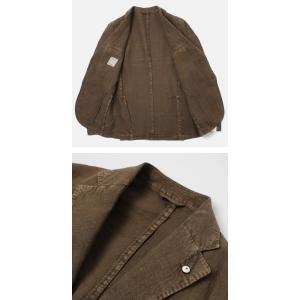 エルビーエム1911 / L.B.M.1911 / JACK SLIM / リネン100% 製品洗い 2B 2パッチ ジャケット / セール / 返品・交換不可|luccicare|05