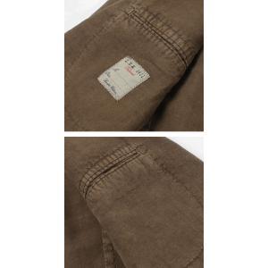 エルビーエム1911 / L.B.M.1911 / JACK SLIM / リネン100% 製品洗い 2B 2パッチ ジャケット / セール / 返品・交換不可|luccicare|06