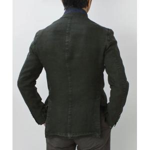 エルビーエム1911 / L.B.M.1911 / JACK SLIM / リネン100% 製品洗い 2B 2パッチ ジャケット|luccicare|04