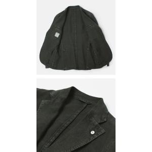 エルビーエム1911 / L.B.M.1911 / JACK SLIM / リネン100% 製品洗い 2B 2パッチ ジャケット|luccicare|05