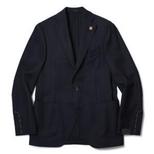 ラルディーニ / LARDINI / ウール ホップサック 3B 段返り 2パッチ シングル ジャケット / セール / 返品・交換不可|luccicare