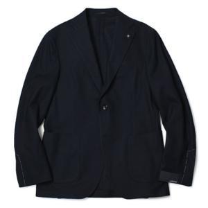 ラルディーニ / LARDINI / コットン 3B 段返り 2パッチ シングル ジャージー ジャケット / セール / 返品・交換不可|luccicare