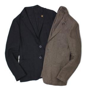 ラルディーニ / LARDINI / リネン100% / 3釦3パッチ シャツ ジャケット / セール / 返品・交換不可|luccicare