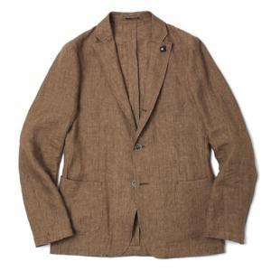 ラルディーニ / LARDINI / リネン100% / 3釦3パッチ シャツジャケット|luccicare