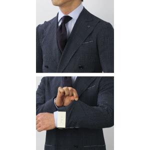 デ ペトリロ / De Petrillo / LINEA NUVOLA / CAMERELLE / ウール シルク ストレッチ グレンチェック柄 ダブルブレスト ジャケット / セール / 返品・交換不可|luccicare|09