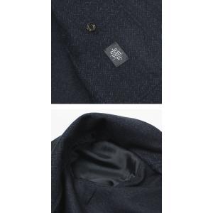 イレブンティ / eleventy / ウール コットン ジャカード ミニヘリンボン柄 ジャージー 2B シングル ジャケット / セール / 返品・交換不可|luccicare|06