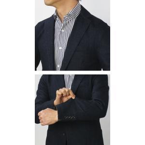 イレブンティ / eleventy / ウール コットン ジャカード ミニヘリンボン柄 ジャージー 2B シングル ジャケット / セール / 返品・交換不可|luccicare|09