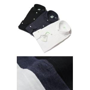 【国内正規品】新作 Finamore ( フィナモレ ) / SERGIO ( セルジオ ) / リネン カッタウェイ シャツ|luccicare