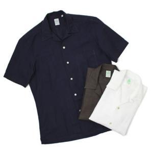 フィナモレ / Finamore / BART / コットン リネン オープンカラー 半袖 シャツ / セール / 返品・交換不可|luccicare
