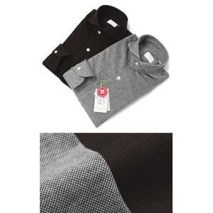 フィナモレ / Finamore / SERGIO / コットン 鹿の子 ジャージィ カッタウェイ シャツ|luccicare