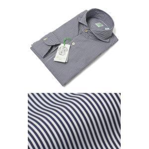 フィナモレ / Finamore / SERGIO / コットン ストライプ カッタウェイ シャツ luccicare