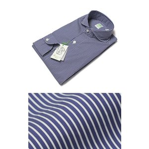 フィナモレ / Finamore / SERGIO / コットンストレッチ ストライプ柄 シャツ|luccicare