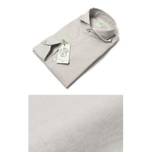フィナモレ / Finamore / SERGIO / コットン ライトネル カッタウェイ シャツ|luccicare