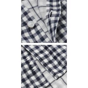 ヤヌーク / YANUK / コットン 二重織り ギンガムチェック柄 ガーゼ シャツ / 返品・交換可能 luccicare 06