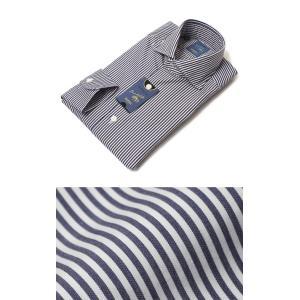 バルバ / BARBA / DANDY LIFE / NEW BRUNO / ストライプ柄 コットン カッタウェイ シャツ|luccicare