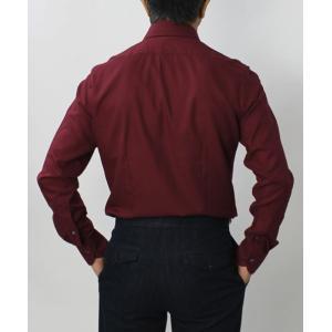 バグッタ / BAGUTTA / MILANOモデル / Albini社 コットン スーパーソフト ライトフランネル セミワイドカラー シャツ|luccicare|05