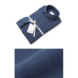 バグッタ / BAGUTTA / MILANOモデル / コットン スーパーライト インディゴ デニム セミワイドカラーシャツ / セール / 返品・交換不可|luccicare