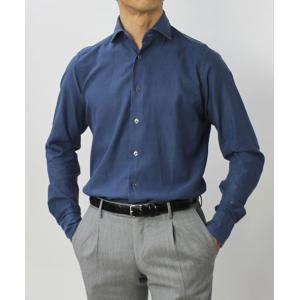 バグッタ / BAGUTTA / MILANOモデル / コットン スーパーライト インディゴ デニム セミワイドカラーシャツ / セール / 返品・交換不可|luccicare|02