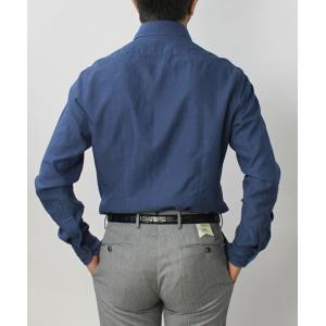 バグッタ / BAGUTTA / MILANOモデル / コットン スーパーライト インディゴ デニム セミワイドカラーシャツ / セール / 返品・交換不可|luccicare|04