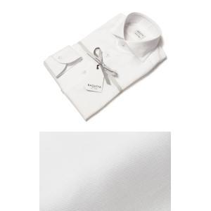 バグッタ / BAGUTTA / MILANOモデル / Albini社×テンセル オックスフォード セミワイドカラー シャツ / セール / 返品・交換不可|luccicare