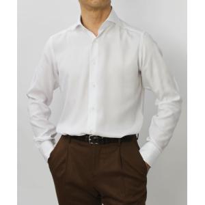 バグッタ / BAGUTTA / MILANOモデル / Albini社×テンセル オックスフォード セミワイドカラー シャツ|luccicare|02