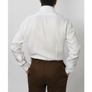 バグッタ / BAGUTTA / MILANOモデル / Albini社×テンセル オックスフォード セミワイドカラー シャツ|luccicare|04