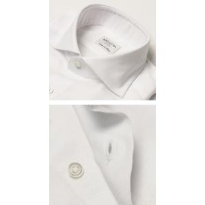 バグッタ / BAGUTTA / MILANOモデル / Albini社×テンセル オックスフォード セミワイドカラー シャツ|luccicare|05