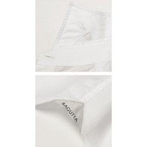 バグッタ / BAGUTTA / MILANOモデル / Albini社×テンセル オックスフォード セミワイドカラー シャツ|luccicare|06