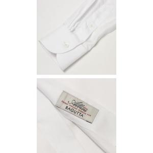 バグッタ / BAGUTTA / MILANOモデル / Albini社×テンセル オックスフォード セミワイドカラー シャツ|luccicare|07