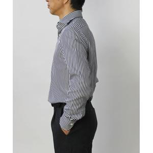 バグッタ / BAGUTTA / MILANOモデル / Albini社×テンセル ロンドンストライプ柄 セミワイドカラー シャツ / セール / 返品・交換不可|luccicare|03