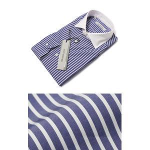 ギローバー / GUY ROVER / コットン ストライプ セミワイド クレリック ドレス シャツ|luccicare