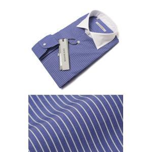 ギローバー / GUY ROVER / コットン ストライプ セミワイド クレリック ドレス シャツ / セール / 返品・交換不可|luccicare