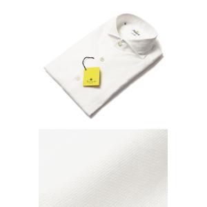 【国内正規品】新作 GIANNETTO ( ジャンネット ) / コットン オックス メッシュ セミワイドカラー シャツ|luccicare