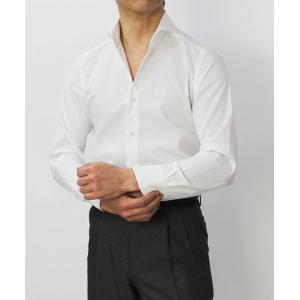 【国内正規品】新作 GIANNETTO ( ジャンネット ) / コットン オックス メッシュ セミワイドカラー シャツ|luccicare|02