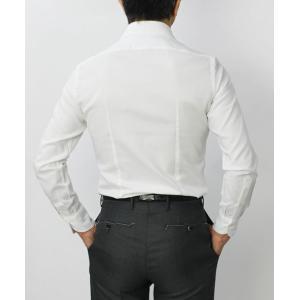 【国内正規品】新作 GIANNETTO ( ジャンネット ) / コットン オックス メッシュ セミワイドカラー シャツ|luccicare|04