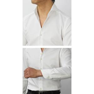 【国内正規品】新作 GIANNETTO ( ジャンネット ) / コットン オックス メッシュ セミワイドカラー シャツ|luccicare|07