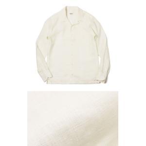【国内正規品】新作 GIANNETTO ( ジャンネット ) / リネン オープンカラー 長袖 開襟シャツ|luccicare