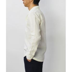 【国内正規品】新作 GIANNETTO ( ジャンネット ) / リネン オープンカラー 長袖 開襟シャツ|luccicare|03