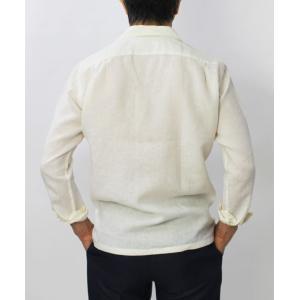 【国内正規品】新作 GIANNETTO ( ジャンネット ) / リネン オープンカラー 長袖 開襟シャツ|luccicare|04