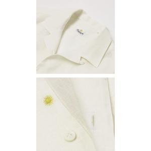 【国内正規品】新作 GIANNETTO ( ジャンネット ) / リネン オープンカラー 長袖 開襟シャツ|luccicare|05