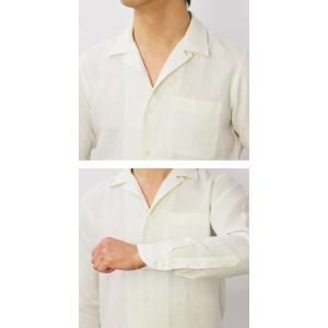 【国内正規品】新作 GIANNETTO ( ジャンネット ) / リネン オープンカラー 長袖 開襟シャツ|luccicare|07