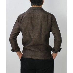 ジャンネット / GIANNETTO / リネン オープンカラー 長袖 開襟シャツ / セール / 返品・交換不可|luccicare|04