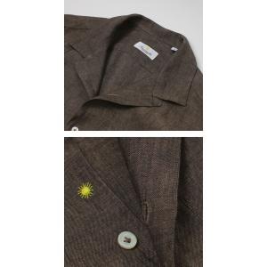 ジャンネット / GIANNETTO / リネン オープンカラー 長袖 開襟シャツ / セール / 返品・交換不可|luccicare|05