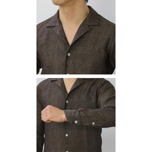 ジャンネット / GIANNETTO / リネン オープンカラー 長袖 開襟シャツ / セール / 返品・交換不可|luccicare|07