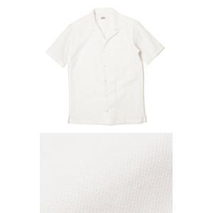 ジャンネット / GIANNETTO / コットン メッシュ オープンカラー 半袖 開襟シャツ / セール / 返品・交換不可|luccicare