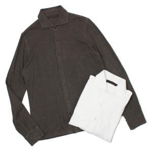 ジョルディーズ / JEORDIE'S / リネン ジャージー セミワイドカラー シャツ / セール / 返品・交換不可|luccicare